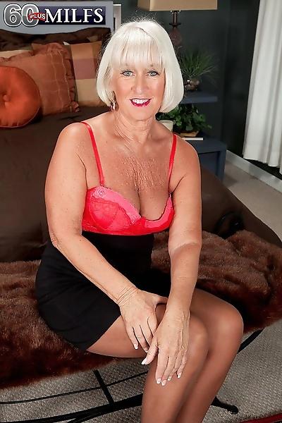 Blonde granny double..