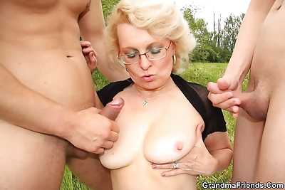 Dirty old granny fucking two..