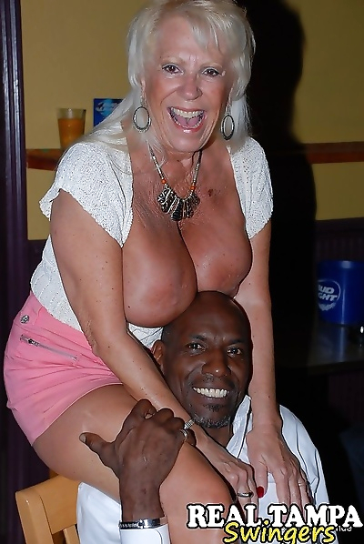 Horny granny enjoying some..