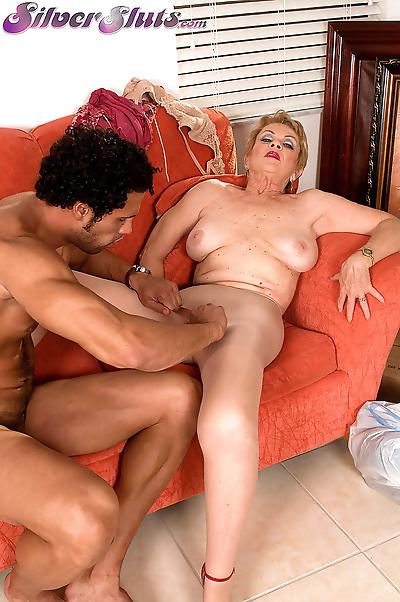 Horny grandmother Lin Boyde..