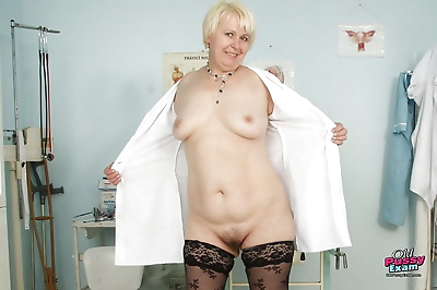Naughty granny in nurse..