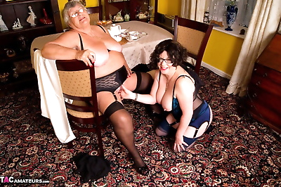 Obese nan Grandma Libby and..