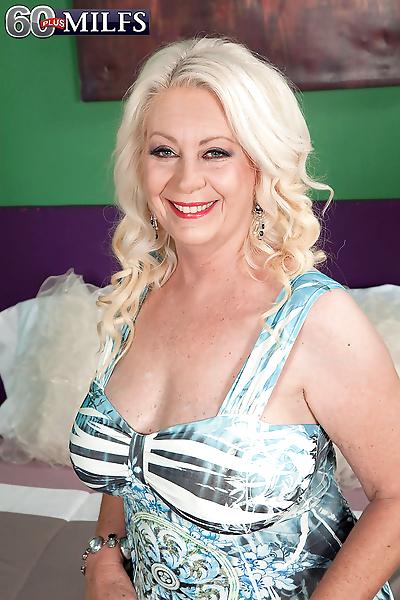 Big boobed nan with blonde..