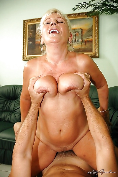 Busty granny gets her hairy..