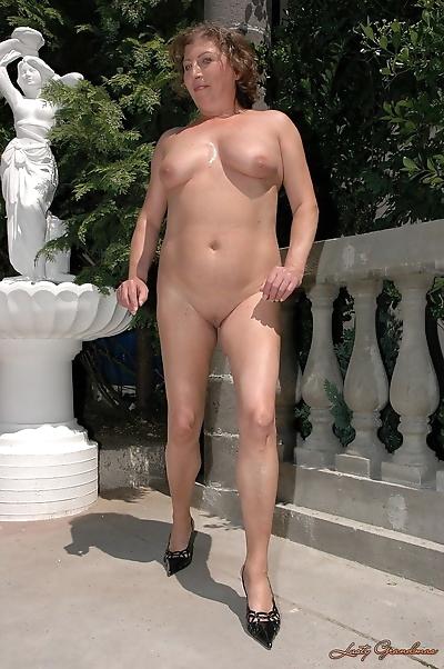 Curvy mature model named..