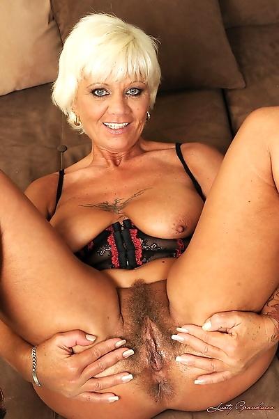Blonde granny Orhidea gets..
