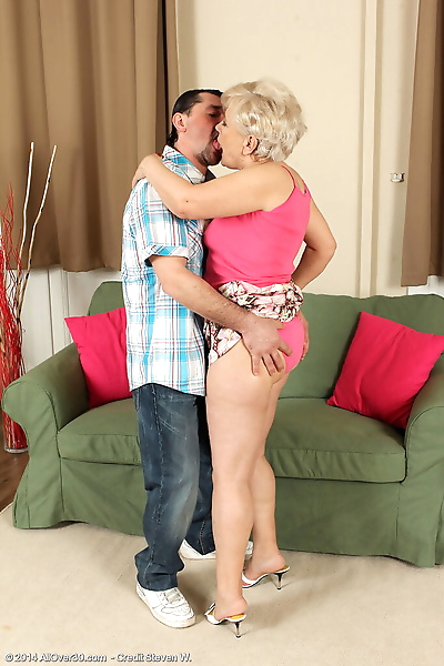 Horny old Mimi gets on her..
