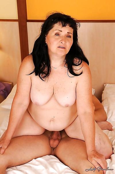 Salacious granny with fatty..