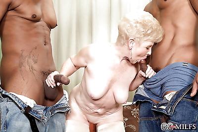 Lusty granny Jewel sucking..