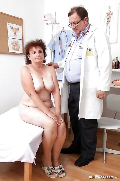 Fatty granny with unshaven..