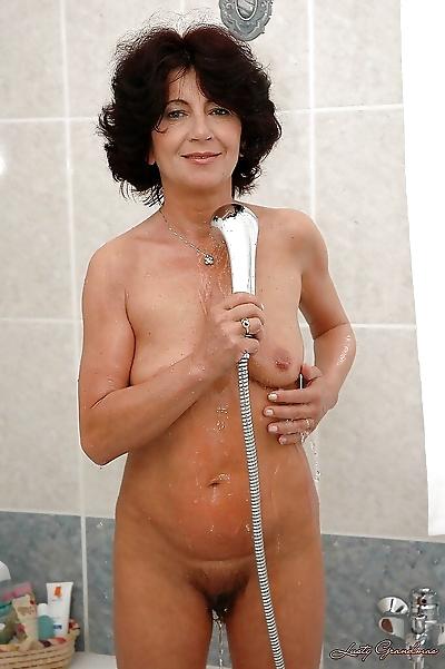 Seductive brunette granny..