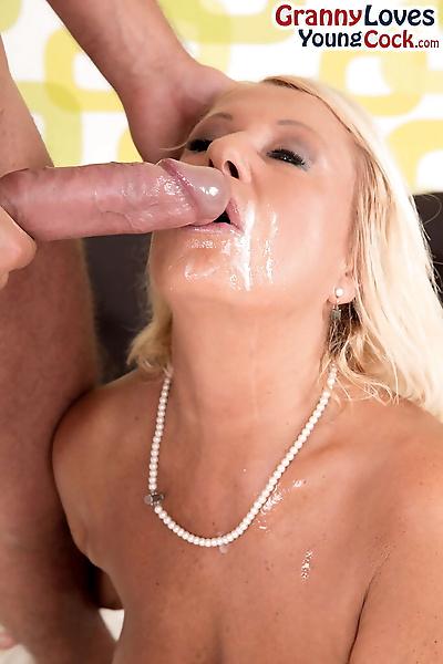 Hot blonde cougar Regi..