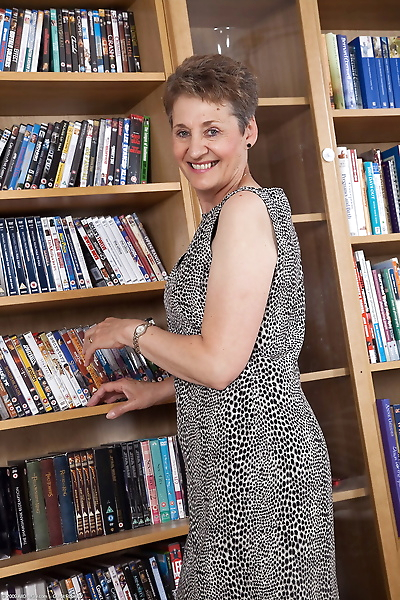 Mature librarian Dee shows..