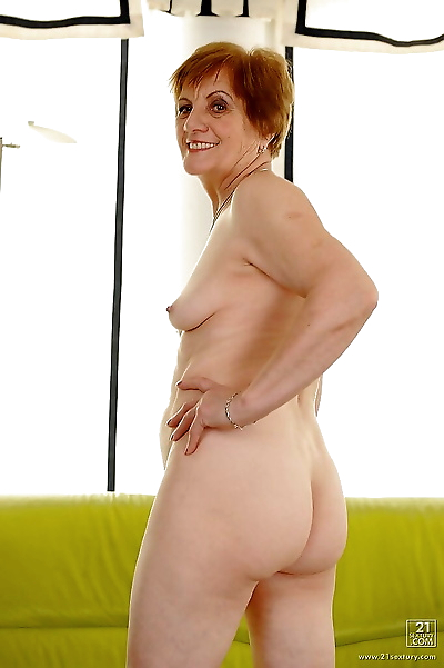 Playful granny with ample..