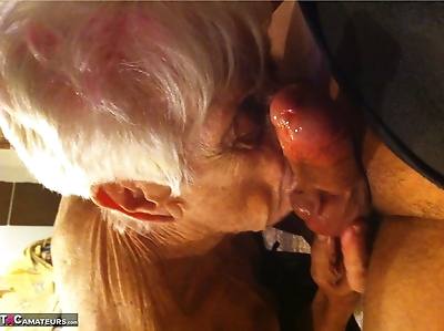 Really old granny shows off..