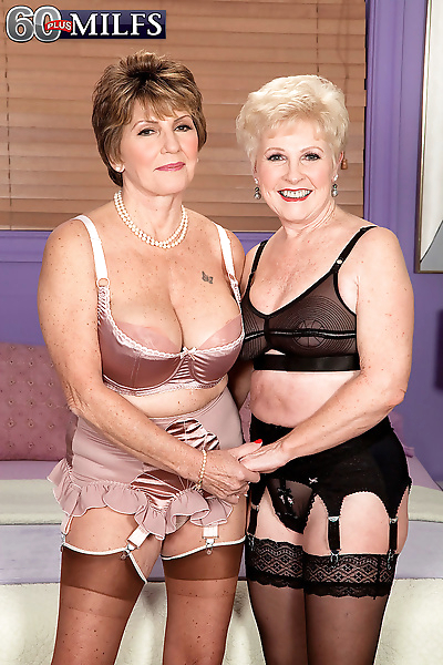 Hot grannies Bea Cummins & Jewel do a 3some with a large cock
