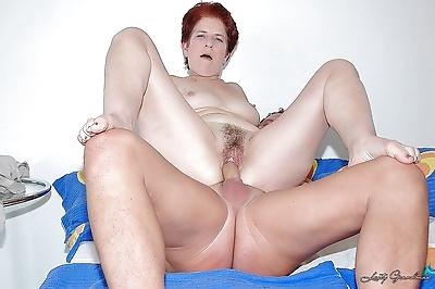 Short haired redhead granny..