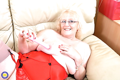 Old British lady in lingerie..