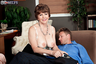 Busty older milf bea cummins..