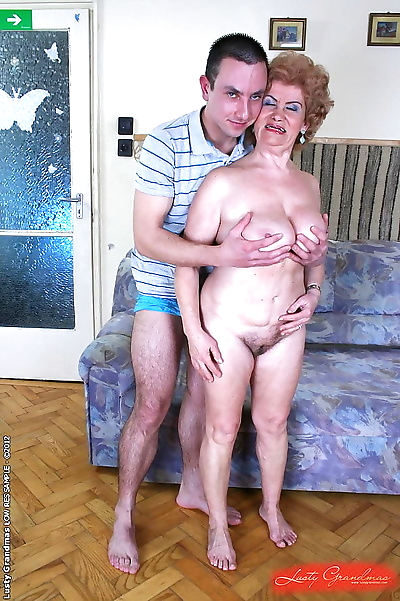 Curly granny loves fresh cum..