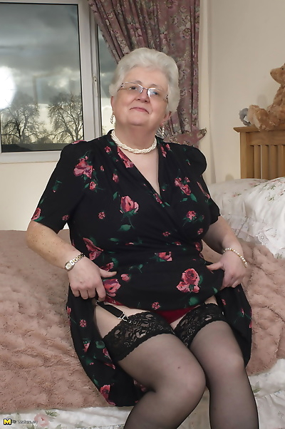 British granny playing with..