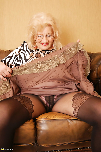 Naughty granny getting ready..