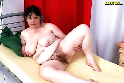 Chubby mom sucks and fucks..