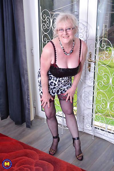 British chubby mature lady..