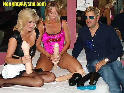 Alysha and a friend take..