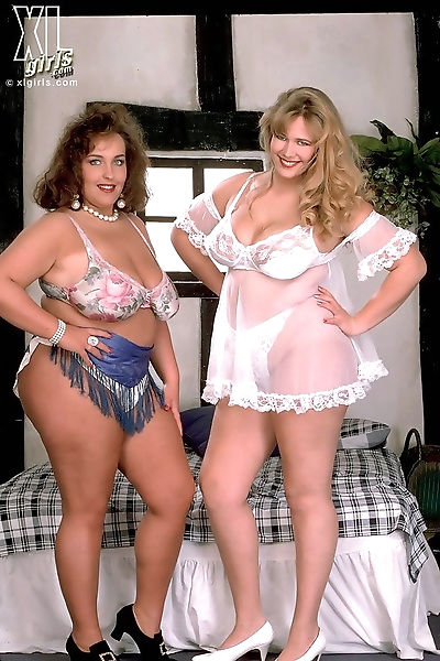 Two big ladies shaking their..