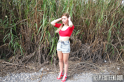 Helpless teen Callie Calypso..