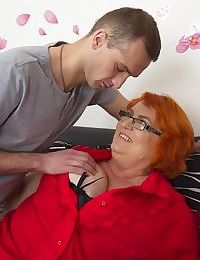 Huge breasted mature lady sucking and fucking - part 3428