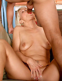 Mature lady seduces the neighbours boy and introduces him to anal sex
