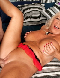 Blonde mature woman Mandi McGraw loving anal sex with her younger lover