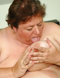 Fatty granny face sitting a younger guy and gets fucked hardcore